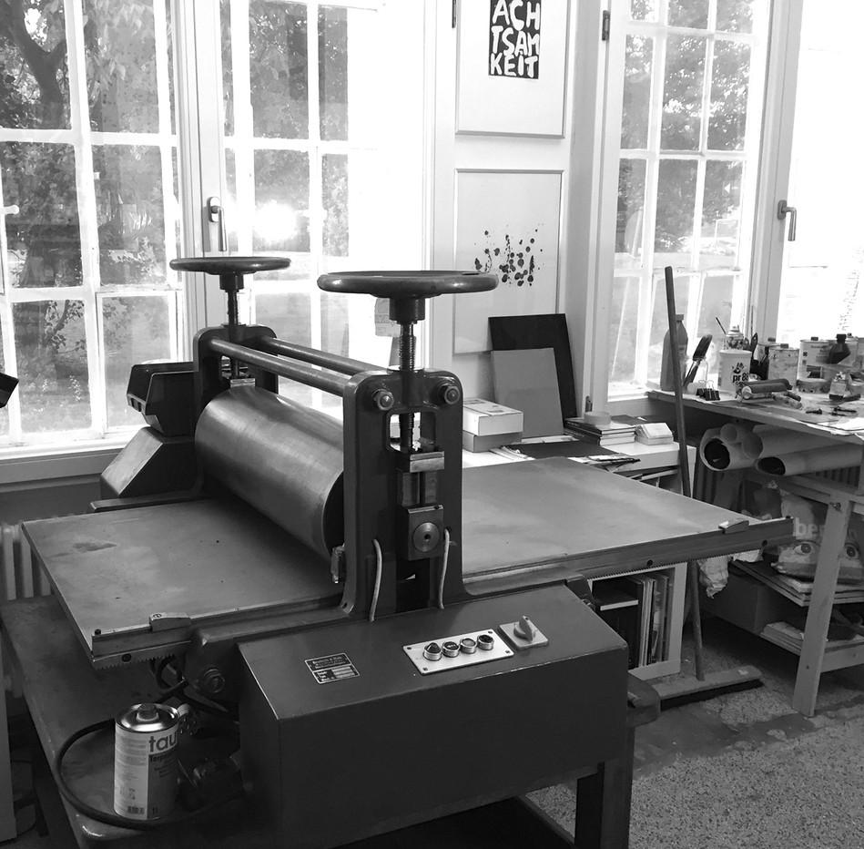 Tiefdruckpresse der EDITIONBERLIN