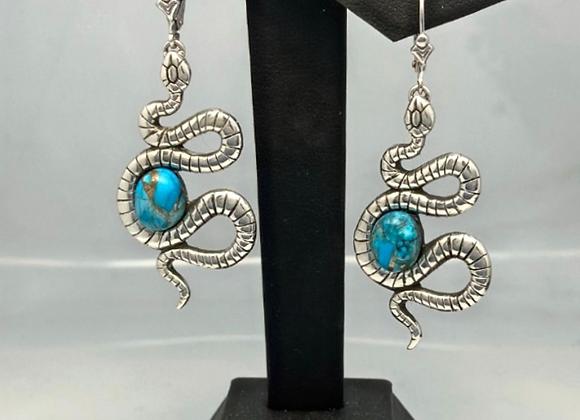 Blue Turquiose Snake Earring