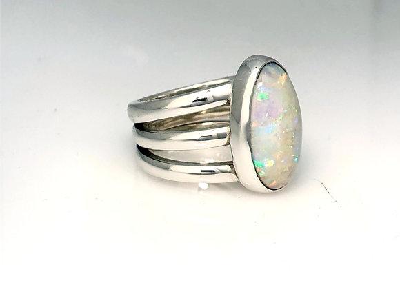 Triple Band Opal ring