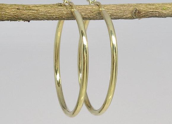 The Classic Medium Gold Hoops