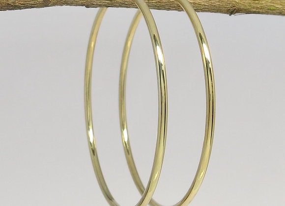 The Classic Large Gold Hoops