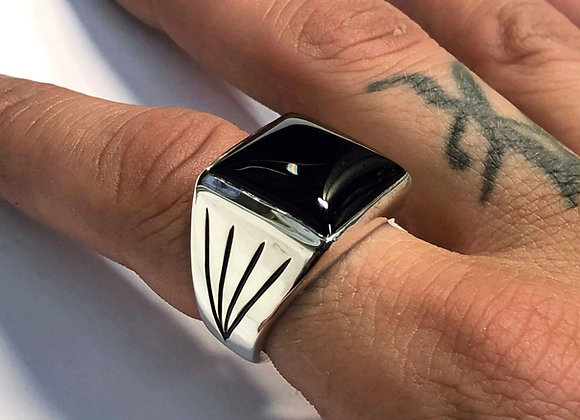 The Onyx Square Signet