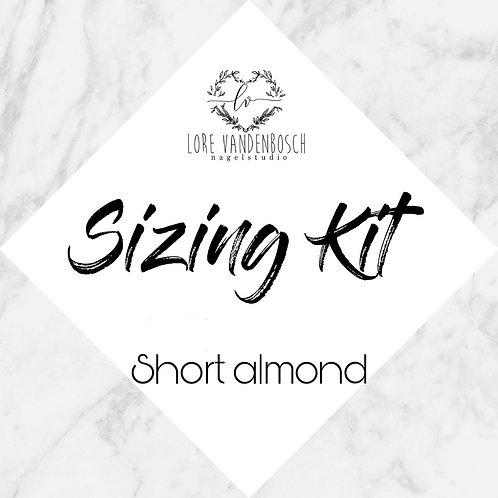 sizing kit short almond