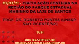 01/03/21 - CIRCULAÇÃO COSTEIRA NA REGIÃO DO PARQUE ESTADUAL MARINHO DA LAJE DE SANTOS