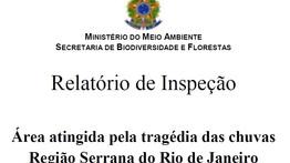 Relatório de Inspeção - Área atingida pela tragédia das chuvas  - Região Serrana do Rio de Janeiro