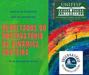 Resultados do Observatório da Dinâmica Costeira da UNIFESP