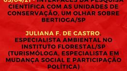 05/04/21 - INTERFACES DA PESQUISA CIENTÍFICA COM AS UCs, UM OLHAR SOBRE BERTIOGA/SP