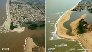 Imagens da porção meridional da foz do rio Paraíba do Sul, norte fluminense