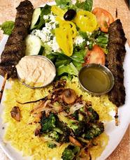 rice plate with kafta