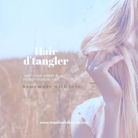 Homemade Hair D'tangler