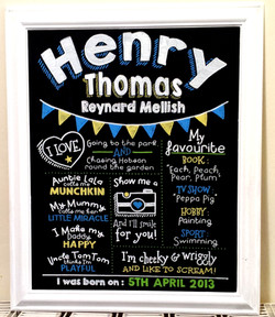 Henry Gift Chalk Art