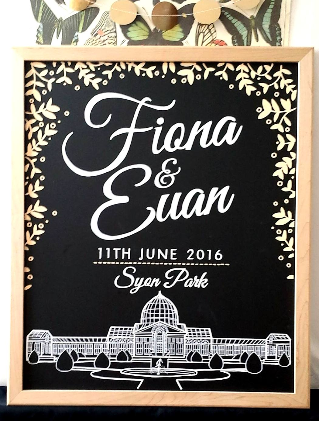 Fiona & Euan- Venue Welcome Sign
