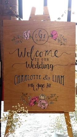 "Charlotte & Liam ""Wood Board"""