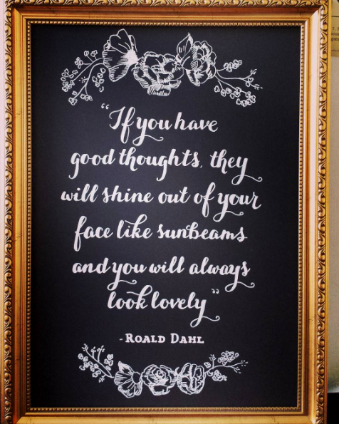 Quote, Gift Chalk Art