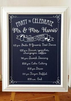 """Harris Wedding """"Navyboard"""""""
