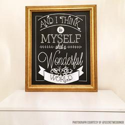 Quote Chalk Art