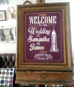 "Samantha & James ""Plumboard"""