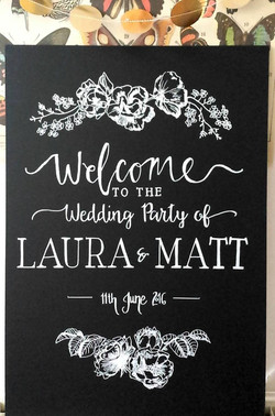 Laura & Matt Welcome Sign