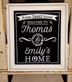 Thomas & Emily Gift Chalk Art