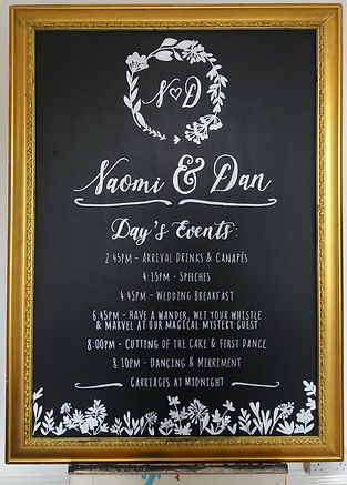 Each Chalk Art Piece Is Super Personalised And Can Have Any Message Style Colour Or Content