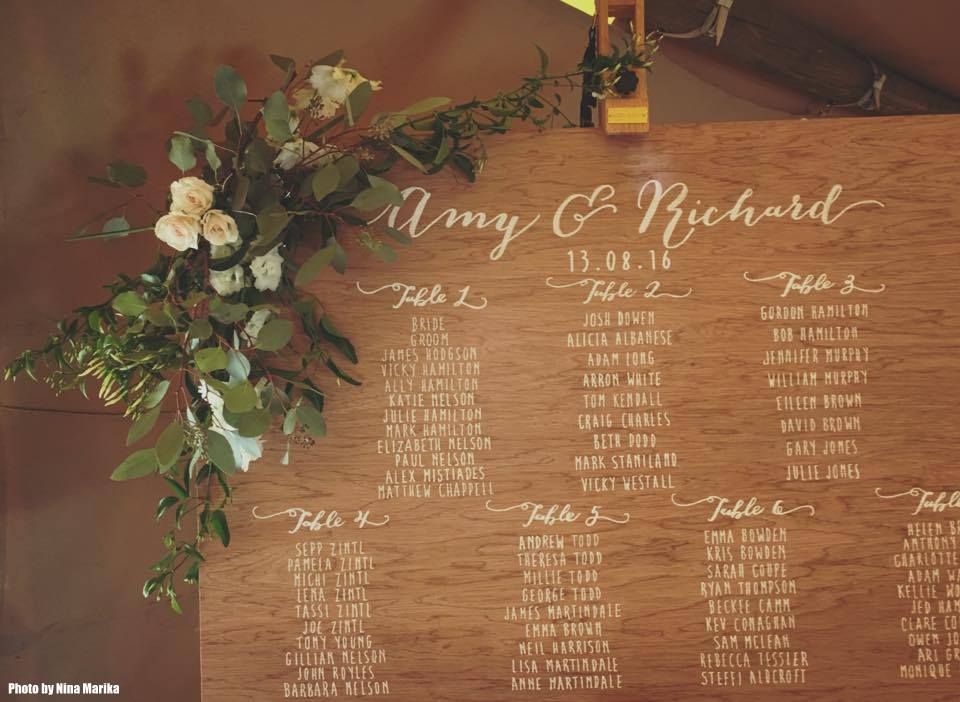 Amy & Richard Table Plan