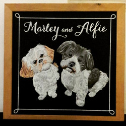 Marley and Alfie, Gift Chalk Art
