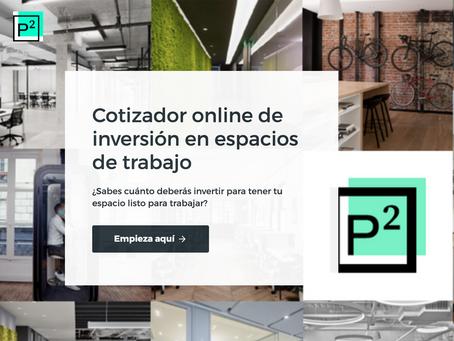 Cotizador online de Inversión en oficinas  Psquared. Compara   costes por puesto de trabajo