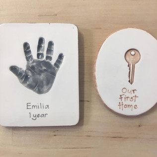 Hand and Key Lasting Impression