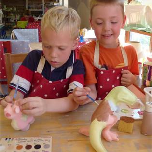 Dinosaur Pottery Painting