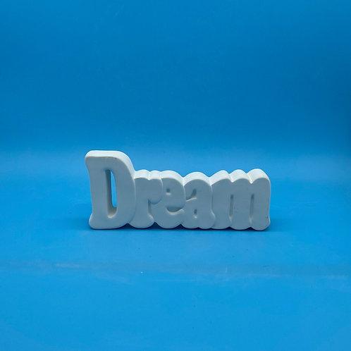 Small Dream Word Plaque Foam Clay Kit