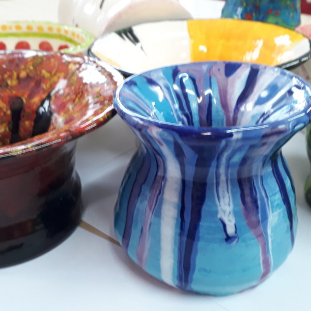Handmade Painted Pots
