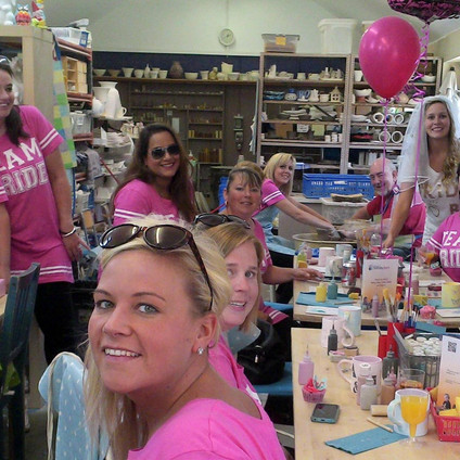 Team Bride Pottery Painting Party