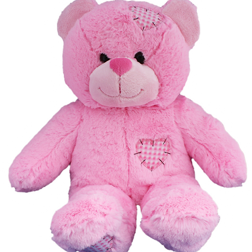 Pink Patches Bear 16""