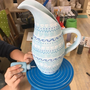 Jug pottery painting