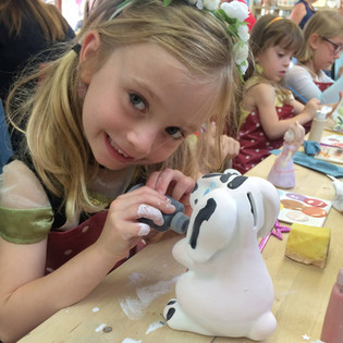 Kids Pottery Painting