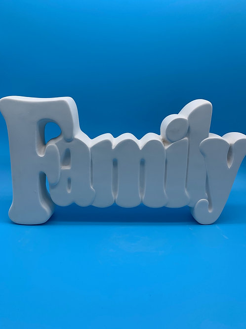Small Family Word Plaque Foam Clay Kit