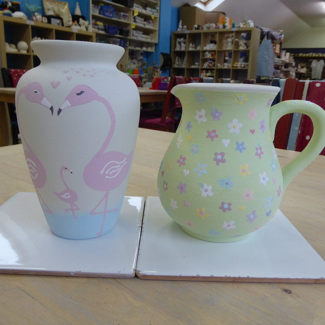 Adults Pottery Painting