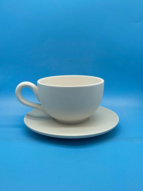 Cappuccino Mug & Saucer 16oz