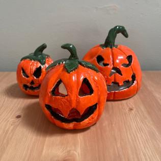 Clay Handbuilt Pumpkins