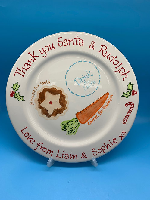 Christmas Eve Treat Plate for Santa - Small