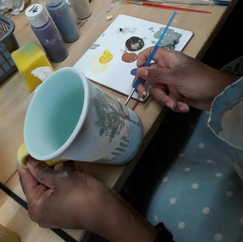Ceramic Mug Painting