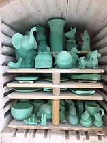 Pottery in the kiln