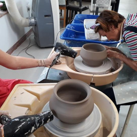 Pottery drying