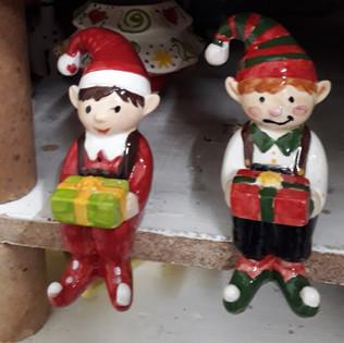 Ceramic elf on the shelf