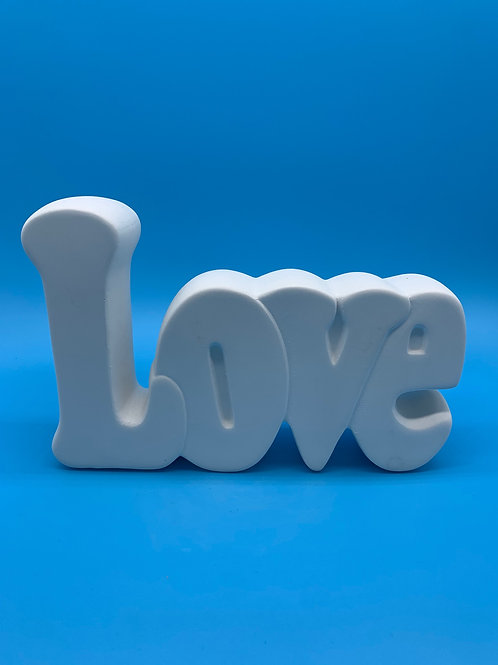Love Word Plaque