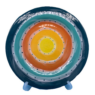Plate Pottery Painting