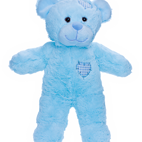 Blue Patches Bear 16""