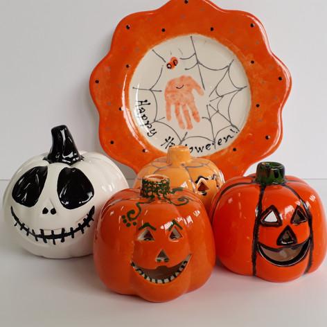 Halloween pottery painting