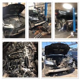 Ремонт двигателя Lexus 450d, мотор дизельный V8, стоимость ремонта 150.000р без учета запчастей.