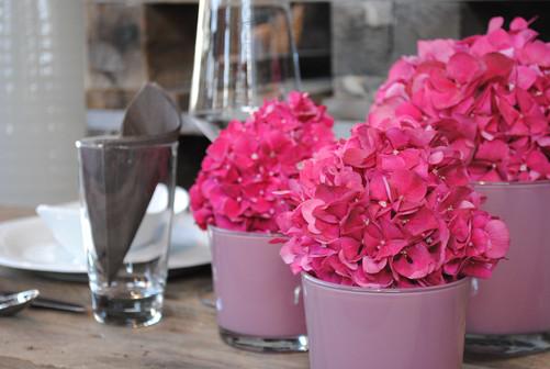 Tischdekoration Blumen Samstagern